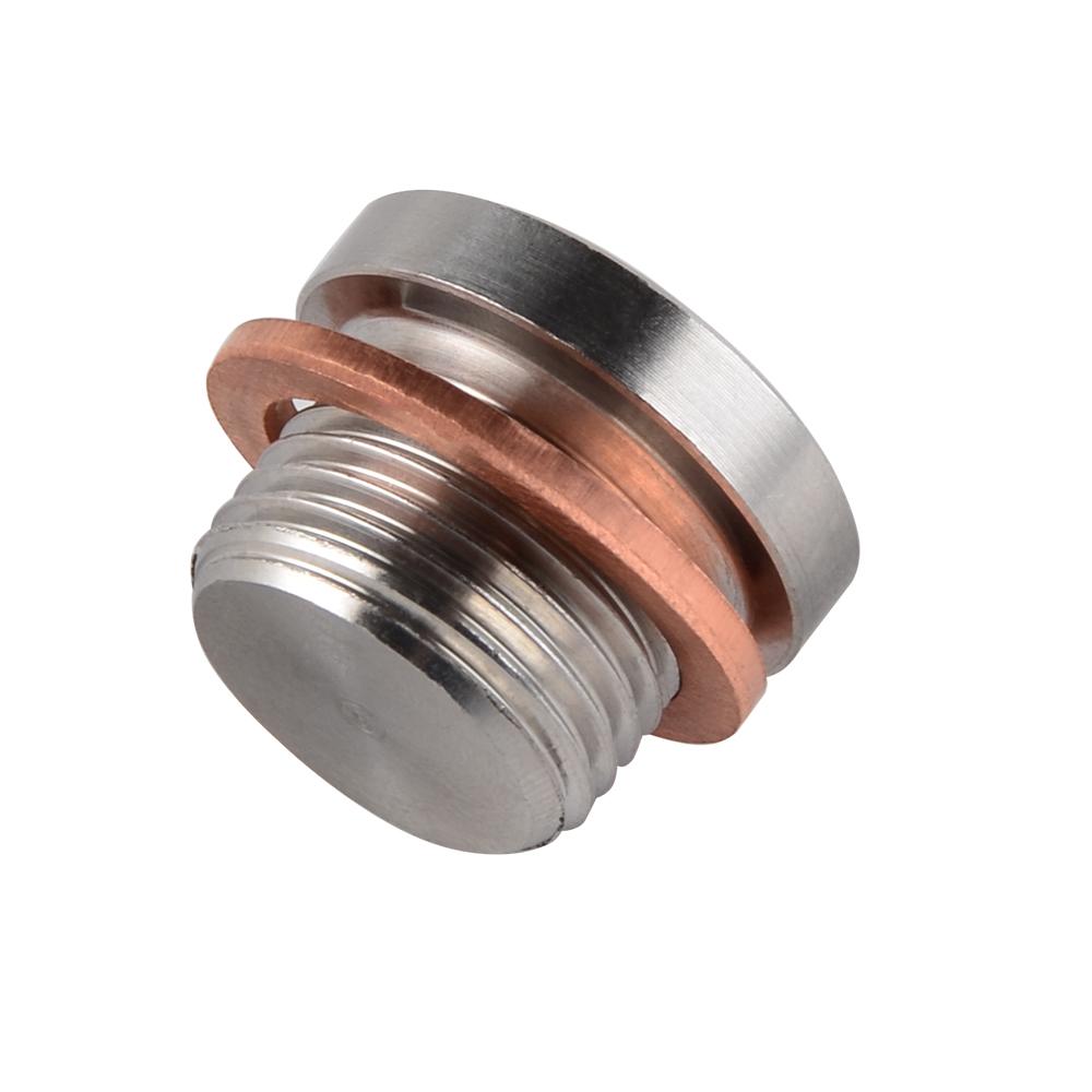 Stainless Steel Lambda Exhaust Oxygen O2 Sensor Boss Nut+Cap Bung Kit M18 x1.5mm